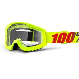 100% Strata goggles geel